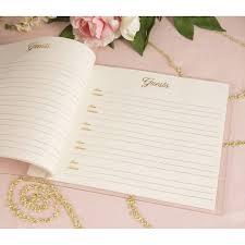 Fairytale Wedding Guest Book Clear Lucite Cover Gold Foil Print