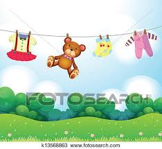 Baby Things Clipart Clipart Of Baby Things Hanging K13568863 Search Clip Art