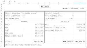 Salary Slip Word Format Salary Slip Template In Excel Paid Out Slips Gocreator Co