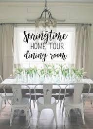 springtime home tour dining room