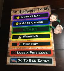 Time Out Chart For Toddlers Personalized Behavior Kids Chart With Levels Customizable Kids At Home Behavior Time Out Warning Custom Printed Discipline Chart Children