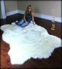 red faux fur rug red faux fur rug large polar bear accent rug faux fur fake