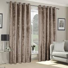 Next Living Room Curtains Vogue Mocha Crushed Velvet Luxury Eyelet Curtains Pair Julian