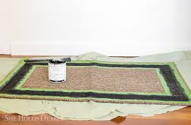 how to paint a rug with chalk paint by sheholdsdearly com