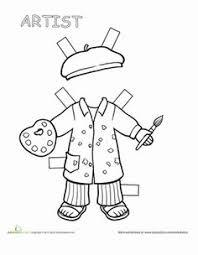 725a390c7edc5a11f6ef5f187e7bb610 art worksheets artist studios teacher paper doll 1 teaching, dr who and paper on worksheet teacher