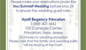 Wording For Hotel Information On Wedding Invitations Wedding