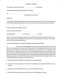 Rental Contract Template Word Printable Sample Simple Room Rental Agreement Form More Rent A