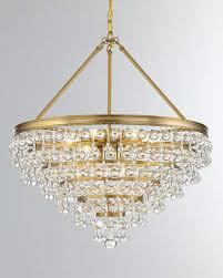 at neiman marcus calypso 8 light crystal teardrop chandelier