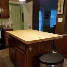 prefinished knotty pine butcher block countertop