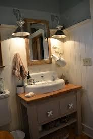 wood country farmhouse sink bathroom vanity