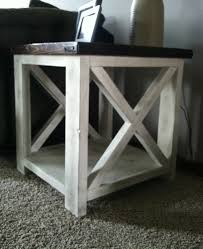 ... White Square Cottage Stained Wood Rustic X Coffee Table Designs To  Complete Living Room ...