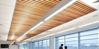 Screenwood ceiling tiles - wooden alternative to acoustic tiles