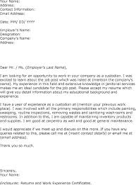 Janitorial Cover Letter Janitor Cover Letter For Custodian Position