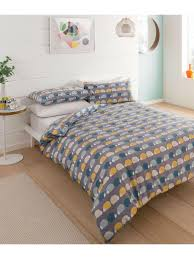 hedgehog flannelette duvet set multi
