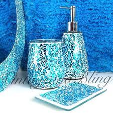 exciting blue mosaic bathroom accessories blue sparkle le glass bathroom accessory set tumbler dispenser soap dish