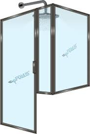 framed shower door drip rails ds203