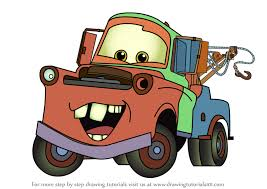 learn how to draw tow mater from cars