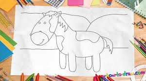 Small Picture How to draw a horse Easy step by step drawing lessons for kids