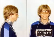 bill gates mugshots of 22 year old gates following his 1977 arrest for a traffic violation in albuquerque new