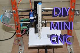 picture of how to make mini home made cnc machine arduino 28bjy 48 stepper
