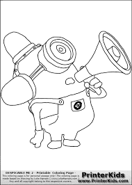 Despicable Me Minions Coloring Pages Getcoloringpagescom