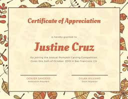 Certificate Of Appreciation Template For Word Simple Customize 48 Appreciation Certificate Templates Online Canva