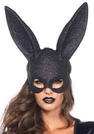 black glitter bunny mask jpg