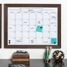 monthly wall calendar dry erase board union rustic framed monthly write on calendar magnetic wall