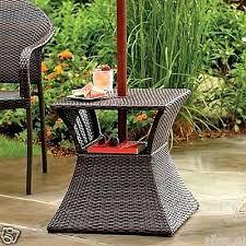 umbrella stand table wicker umbrella stand side table outdoor patio furniture garden patio umbrella stand table