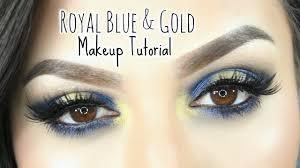 royal blue gold halo makeup tutorial urban decay gwen stefani palette you