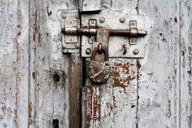 padlock old door
