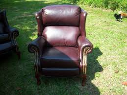 wing back leather recliners 2 350