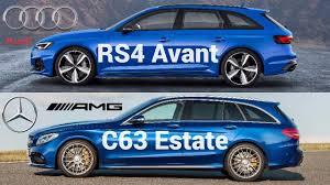 2018 Audi RS4 Avant vs Mercedes-AMG C63 Estate - YouTube