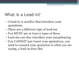 Lead Ins For Quotes Good Quote Lead Ins Best Quote 100 24