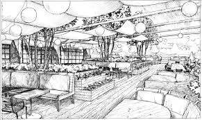 restaurant exterior drawing. Simple Drawing Chef Ford Fryu0027s Group Gives First Glimpse Of New Look To Navau0027s Old Space  With Outdoor Dining Plans For Restaurant Exterior Drawing N