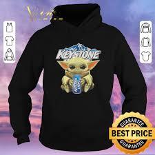 Keystone Light Sweatshirt Funny Baby Yoda Hug Keystone Light Star Wars Mandalorian Shirt Sweater