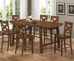 Bar Height Kitchen Table Set 9pc Dinette Kitchen Counter Height Table With 8 Chairs In Espresso