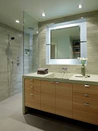 unique bathroom furniture. example of a trendy gray tile bathroom design in san francisco with trough sink unique furniture o