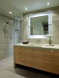 unique bathroom furniture. example of a trendy gray tile bathroom design in san francisco with trough sink unique furniture o