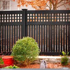 gorgeous black pvc vinyl semiprivacy fence with old english lattice and three inch boards vinyl semi privacy fence n33 privacy