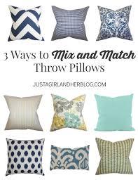 3 ways to mix and match throw pillows justagirlandherblog com