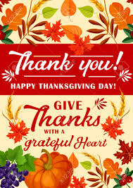 Happy Thanksgiving Day Greeting Card For Traditional Harvest