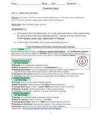 Proton Chart Name Block___ Date ______ Handout ___