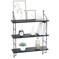 hanging floating shelves 3 tiers floating shelf hanging wall mounted shelves organizer for bedrooms bathroom living hanging floating shelves