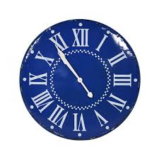 blue wall clock image to enlarge
