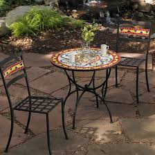 furniture maxcera mosaic bistro table sets for outdoor pub wonderfulnd chairs bar setluminium garden and home patio height outside high top tables dining