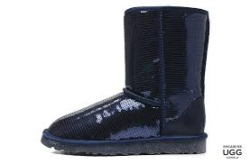 Classic UGG Boots Short Boots UGG Women Classic Short Sparkles 3161 Boots  Navy A97L4462,uggs celebrity endorsement,ugg boots for cheap,high quality  ...