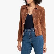 <b>Блузон короткий</b> кожаный <b>La Redoute</b> Collections | <b>La Redoute</b>