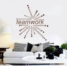 Diy office decor Thanksgiving Teamwork Words Quote Vinyl Wall Decals Office Decor Business Decal Diy Self Adhesive Wall Stickers Removable Art Wallpaper Wall Decor Sticker Wall Decor Urbanfarmco Teamwork Words Quote Vinyl Wall Decals Office Decor Business Decal
