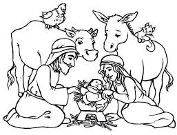 Nativity Coloring Pages Awesome For Preschool Lds 344 Get Coloring
